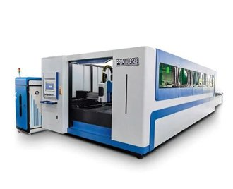 Full cover Exchangeable fiber laser cutting machine 4000x1500mm with pipe cutting